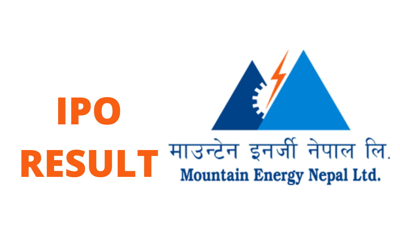 IPO allotment of Mountain Energy Nepal Limited (MENL) | IPO result